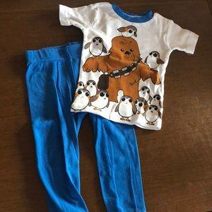 Star Wars pajama set 3T